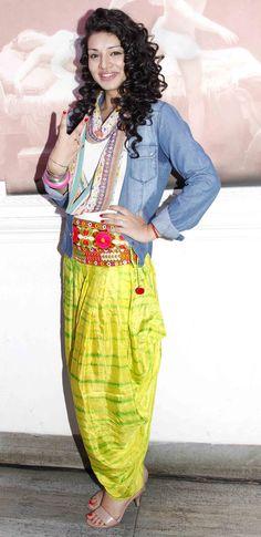 Sukriti Kandpal at the launch of the TV show 'Dilli Wali Thakur Girls' #Bollywood #Fashion #Style #Beauty