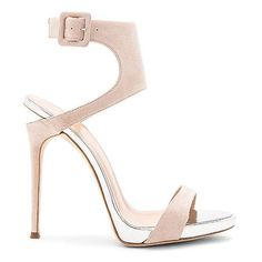 Giuseppe Zanotti Coline Heel (2.635 BRL) ❤ liked on Polyvore featuring shoes, sandals, heels, leather sole shoes, high heeled footwear, heeled sandals, high heels sandals and buckle strap sandals