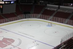 The Kohl Center ice has a subtle new look this year. Can you spot the difference?