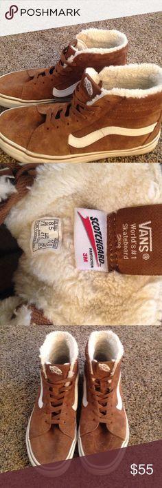 Vans sk8 hi suede fleece women's size 10 Used, good condition Vans Shoes Sneakers