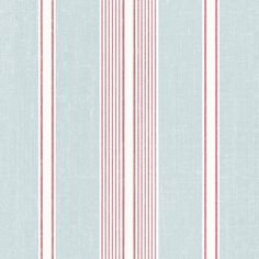 Make the Palmetto Cushion Stripe Wallpaper an essential part of redecorating your space. Covering this prepasted paper backed vinyl wallpaper are stripes. Striped Wallpaper, Vinyl Wallpaper, Red Stripes, Stripes Design, Aqua Fabric, Striped Fabrics, Red And White, Print Patterns, Cushions