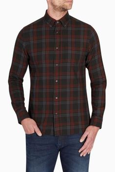 Buy Burgundy/Black Check Shirt online today at Next: Rep. of Ireland