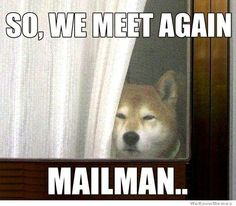 so we meet again, mailman...