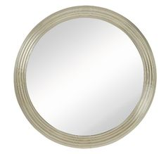 CR Mirrors Large Round Wall Mirror-Silver CM-1986-P $500.00