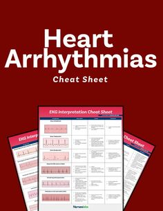 Use this EKG interpretation cheat sheet that summarizes all heart arrhythmias in an easy-to-understand fashion. Ekg Interpretation, Nursing School Notes, Thankful For Friends, Nursing Tips, Cheat Sheets, Cheating, Study Guides, Writing, Education