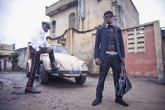 """""""Elegance Road"""" is a photo series by Belgian photographer Alexandre Van Enst that captures the non-conformist style and dandy attitudes of a Kinshasa-based fashion and lifestyle SAPE collective.  The African Society of Elegant People, the """"SAPE"""" was born in the years after the independences of Congo-Brazzaville and Zaire. #SWAG"""