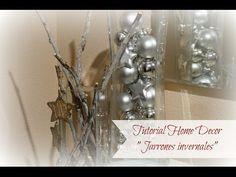 Tutorial Home decor: jarrones invernales (Navidad) - YouTube