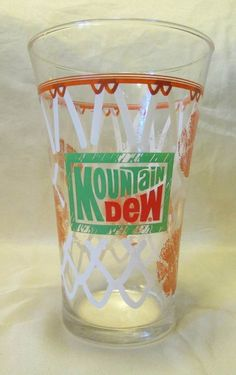 Mountain Dew Basketball Glass drinking vintage #MountainDew