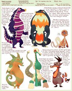 Species - Painted Alligators by purplekecleon on deviantART
