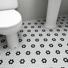 "Found It At Wayfair  Retro Rhombus 188"" X 318"" Porcelain Mosaic Classy Black And White Mosaic Tile Bathroom Review"