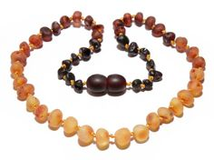 Genuine Raw Baltic Amber Baby Teething Necklace by BLTAmber