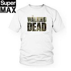 CXT09 100% COTTON t shirt short sleeve Tshirt print casual tee shirt men twd the walking dead print T shirt-in T-Shirts from Men's Clothing