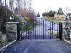 Decorative Iron Entrance Gate