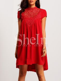 Red+Cap+Sleeve+Cut+Out+Back+Lace+Dress+19.99