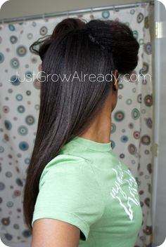 Hair Growth for Relaxed Hair | Just Grow Already! | journeying to healthy hair: Relaxer Touch Up