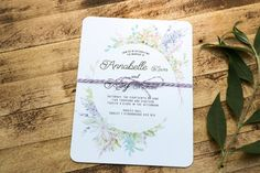 Floral Pastel Wreath Wedding Invitation 'Sweet Dreams'