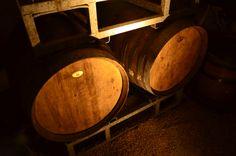 Chai de vieillissement des vins de Loire.