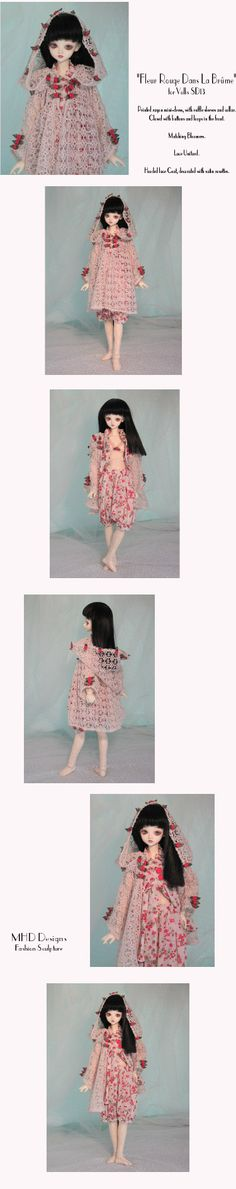 MHD Designs - Red Flowers In The Mist; love this entire outfit.