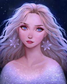 Elsa by RaidesArt on DeviantArt Anime Disney Princess, Film Disney, Disney Princess Pictures, Disney Frozen Elsa, Disney Fan Art, Princesa Disney Jasmine, Frozen Fan Art, Frozen Wallpaper, Frozen Pictures