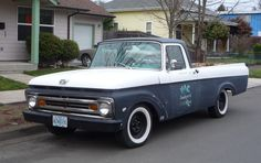 Curbside Classic: 1962 Ford Styleside F-100 Pickup – That Most Feminine Truck  love the busted old logo on the door