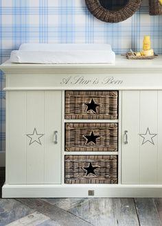 a star is born. Baby Furniture, Home Decor Furniture, Rivera Maison, Changing Dresser, Interior Decorating, Interior Design, Baby Boy Nurseries, Dream Decor, Kid Spaces