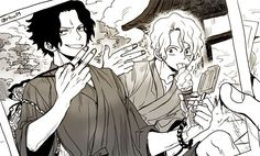 One Piece, ASL, Ace, Sabo