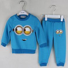 2pcs Minions T shirt+pants