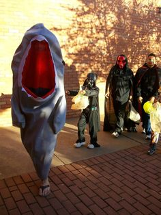LeTourneau University students dress up and give candy to local kids on Halloween for Trick or Treat on College Street. http://www.letu.edu/