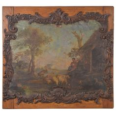 19th c. Landscape in Oil on Canvas | From Skelton - St. John Antiques and available at http://www.1stdibs.com/dealers/skelton-st-john/