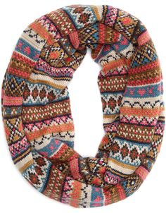 Chunky fair isle eternity scarf, lands end had a large selection for fall/winter & if you waited the fair isle eternity scarves were $6.00. I know, so affordable & so warm.