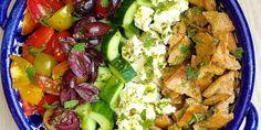 Best Mediterranean Salad with Lemon-Herb Vinaigrette Recipe