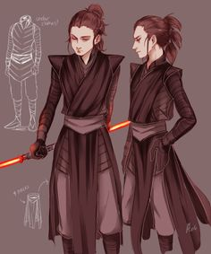 Dark Side Rey. @ammeliasstories remember that cosplayer at comicon who was a dark side Rey?