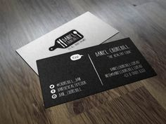 Having a creative and eye-catching business card is an integral part of offline branding. Here we've picked 30 brilliant examples of creative chef business cards to inspire your designs. Business Card Logo, Business Card Design, Brand Identity, Branding, Chef Logo, Calling Cards, Name Cards, Wedding Planner, Cards Against Humanity
