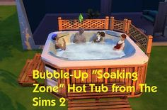 "Mod The Sims - Bubble-Up ""Soaking Zone"" Hot Tub from The Sims 2 v1.2"
