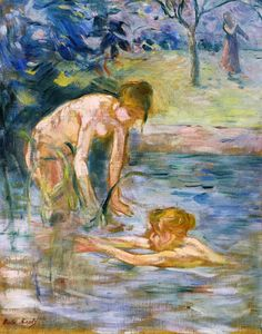 """lonequixote: """" Bathers by Berthe Morisot """" Manet, French Impressionist Painters, Impressionist Artists, Impressionism Art, Berthe Morisot, Mary Cassatt, Pierre Auguste Renoir, Buy Art Online, French Art"""