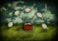 Counting sheeps  Large size A3 117 x 165 by majalin on Etsy, kr348.00