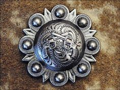 CROSS GUN ANTIQUE FINISH CONCHO ADDLE HEADSTALL TACK BLING COWGIRL Western Bling Conchos: HSCN127