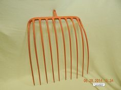 10-TINE HAY PITCHFORK! PAINTED! UNKNOWN EXACT VINTAGE! WALL OR YARD ART! AS IS! #Primitive #UNKNOWN