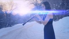 Electric Winter - Oboe Dubstep ft. Nicole Marriott and the Salt Lake Pop... I see that it is a plastic model she is pretending to play for the video; no keys on the bell is a dead giveaway.