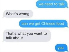 Imagen de food, Relationship, and chinese food Otp, Relationship Goals, Relationships, Whats Wrong, Text Messages, Funny Messages, Mikey, Chinese Food, Malaga
