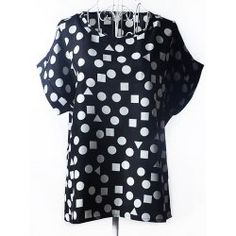 Trendy Plus Size Scoop Neck Geometric Pattern Blouse For Women from $6.68 by NASTYDRESS
