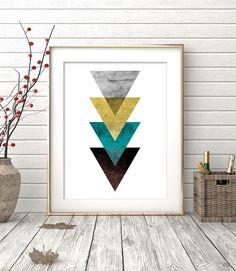 Triangle Print Printable Art Geometric Art print Abstract