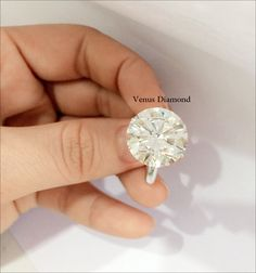 Round diamond Ring 12.76 carat Jcolor/VVS1