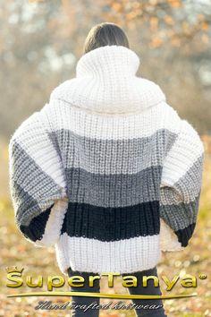 Énorme pull oversize en laine à rayures SuperTanya   Etsy