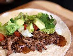 Chipotle Slow Cooker Shredded Beef Tacos