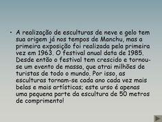 FESTIVAL DE ESCULTURAS DE NEVE E GELO