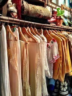 Vintage clothing at Tavin Boutique.