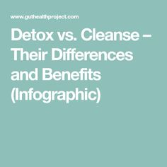 Detox vs. Cleanse – Their Differences and Benefits (Infographic)
