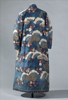 Man's dressing gown, banyan, made of printed cotton from Coromandel (India), made for Dutch market, first half of 18th c