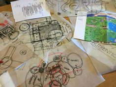 In the news this week we've got a little peek from Coupe Architecture. These bubble-diagrams on the left are initial sketches of the park. Bubble Diagram, Castle Project, 5 Year Plan, Event Venues, Sketches, How To Plan, Park, Projects, Fun